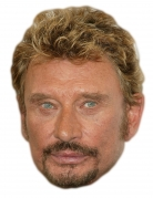 Masque en carton johnny Halliday