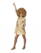 Déguisement robe dorée disco fille