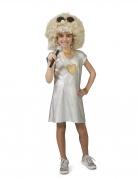 Déguisement robe argent disco fille