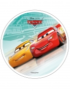 Disque en azyme Cars™ turquoise 21 cm