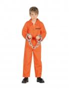Déguisement prisonnier orange garçon