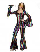 Déguisement disco rainbow femme