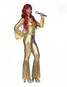 Déguisement disco doré femme