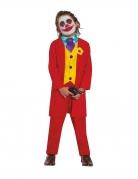 Déguisement clown rouge fou enfant