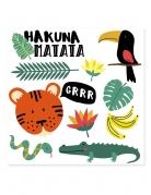 Tatouages éphémères hakuna matata 80 x 80 mm