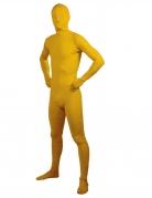 Déguisement adulte seconde peau jaune adulte