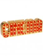 Décoration lumineuse en bois Cinéma 30 x 4 x 10 cm