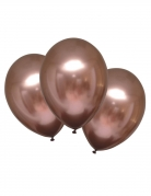 6 Ballons en latex rose gold satinés 28 cm