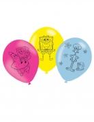 6 Ballons latex Bob l'Eponge™ 27 cm