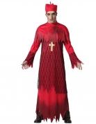 Déguisement cardinal zombie rouge adulte