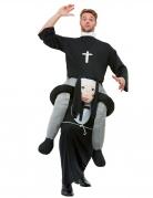 Déguisement prêtre à dos de religieuse adulte