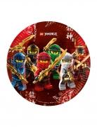 8 Assiettes en carton FSC® Lego Ninjago™ 23 cm
