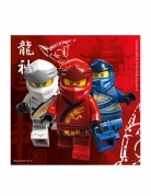 20 Serviettes en papier FSC® Lego Ninjago™ 33 x 33 cm