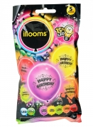 5 Ballons LED Happy Birthday Illooms®