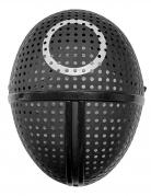 Masque en plastique gardien de jeu symbole rond adulte