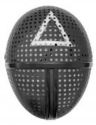 Masque en plastique gardien de jeu symbole triangle adulte