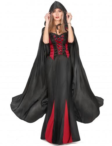 Cape vampire noire adulte Halloween