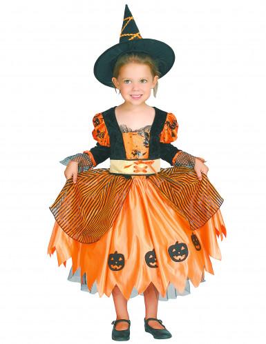 Déguisement sorcière orange fille Halloween