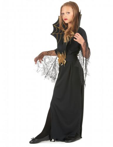 Déguisement sorcière araignée dorée fille Halloween