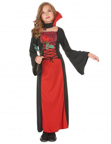 Déguisement vampire long fille Halloween
