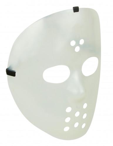 Masque hockey phosphorescent adulte