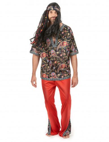 Déguisement hippie rouge homme