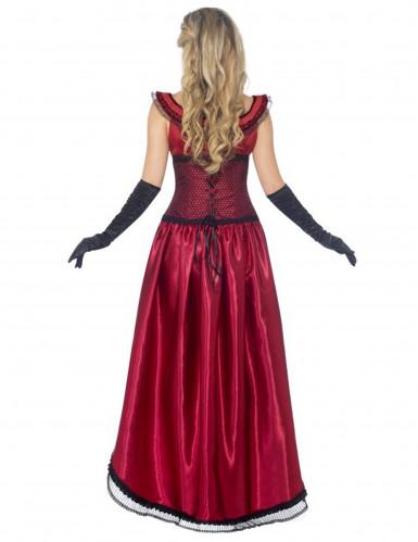 Déguisement danseuse saloon sexy rouge femme