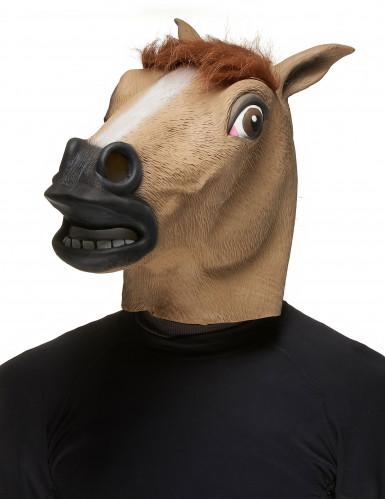 Masque cheval marron adulte