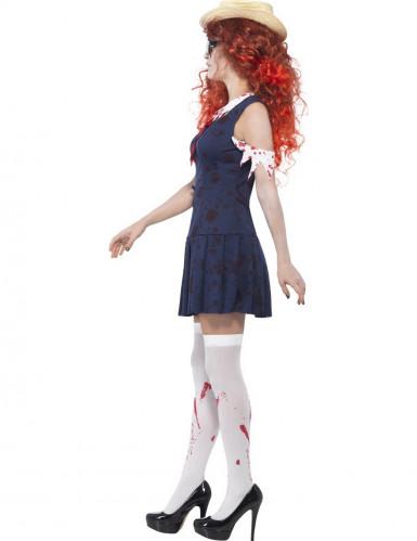 Déguisement zombie écolière rétro femme