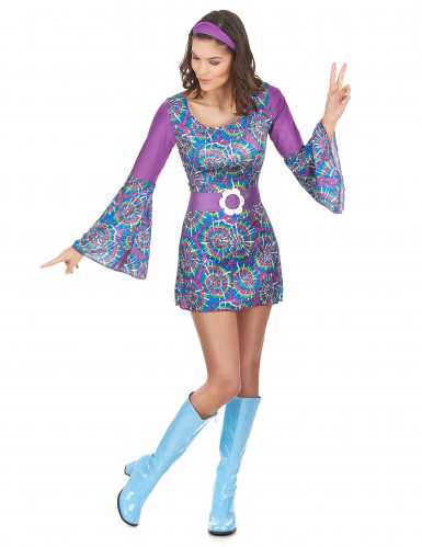 Déguisement hippie psychedelique femme