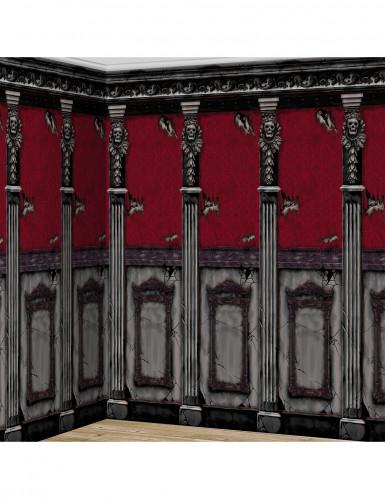 2 Décorations murales chateaux gothiques Halloween
