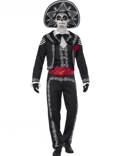 Déguisement squelette mexicain homme Dia de los muertos