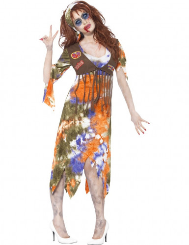 Déguisement zombie hippie femme Halloween