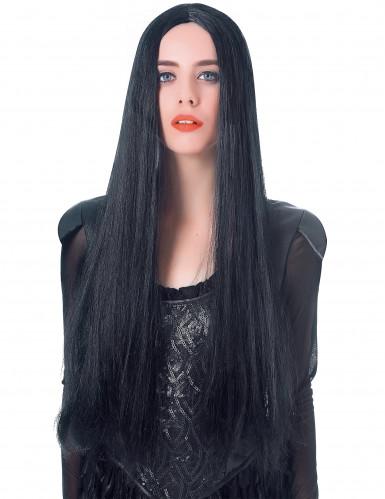 Perruque très longue noire femme - 75cm