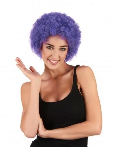 Perruque afro/clown violette standard adulte