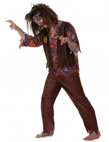 Déguisement zombie hippie homme