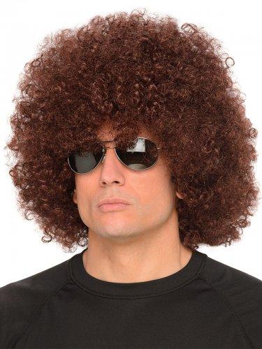 Perruque afro marron adulte