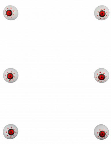6 Décorations petits yeux globuleux