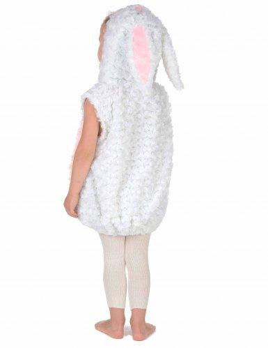 Déguisement lapin blanc et rose sans manches enfant
