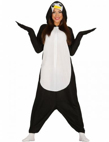 Déguisement combinaison pingouin adulte