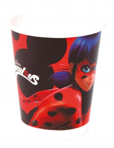 8 Gobelets en carton Ladybug™ 220 ml