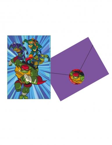 8 Invitations et enveloppes Le Destin des Tortues Ninja™