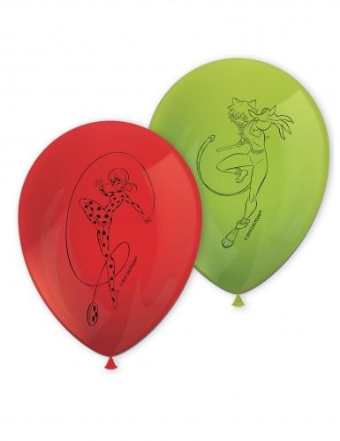 8 Ballons en latex Miraculous Ladybug™