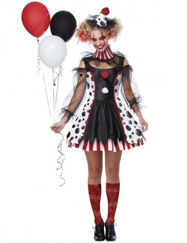 Déguisement clown psycho robe femme