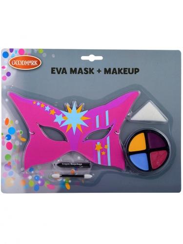 Set masque et maquillage super héros enfant