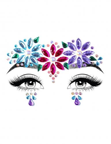 Bijoux pour visage adhésifs dahlia