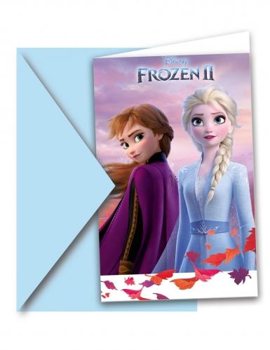 6 Cartons d'invitations et enveloppes La Reine des Neiges 2™