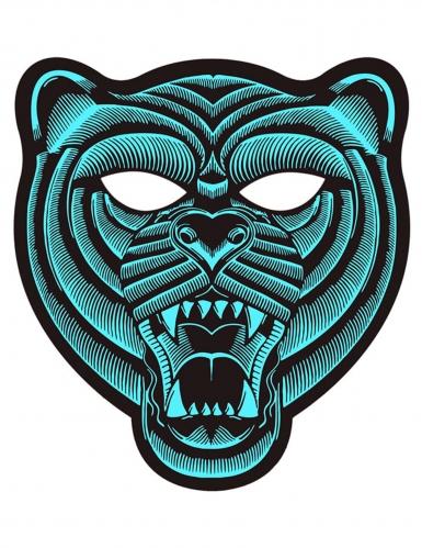 Masque tigre à LED réactives adulte
