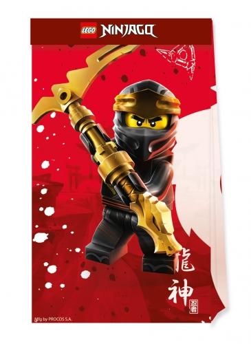 4 Petits sacs de fête en papier FSC® Lego Ninjago™