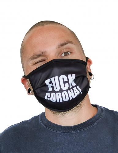 Masque cache nez imprimé fuck adulte